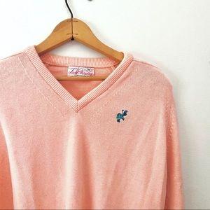 Vintage Pastel Pink Golfer Sweater